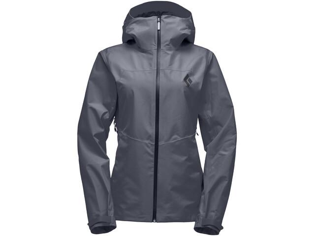 Black Diamond Liquid Point Shell Jacket Dame carbon